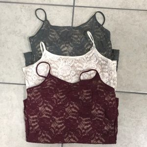 Lot 3 lace Express best loved bra top camis LARGE